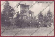 BRESCIA MONTIRONE 01 VILLA ORIO Cartolina VIAGGIATA 1913