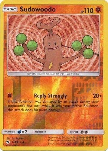Sudowoodo 110//214 S/&M Lost Thunder REVERSE HOLO PERFECT MINT Pokemon