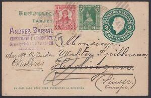 MEXICO, 1922. Post Card H&G 121, 311,313, M.C. - Hedingen, Switzerland