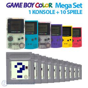 GameBoy-Color-MegaSet-Konsole-Farbe-nach-Wahl-10-Spiele