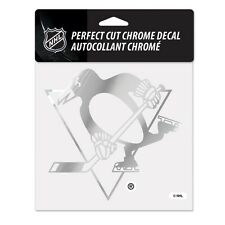 Pittsburgh Penguins 6x6 Chrome Auto Decal [NEW] NHL Car Emblem Sticker Wincraft