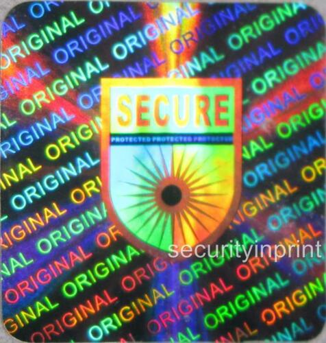 49x SECURE PROTECTED Hologram Holographic stickers labels seals 20X20mm S20-4S