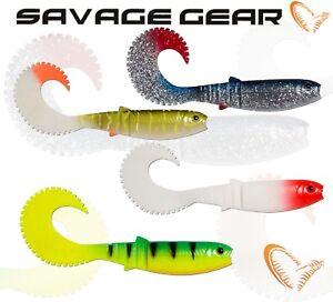 New-2020-Savage-Gear-Cannibal-Queue-Plastique-Souple-bait-jig-leurre-Curly-Shad-peche