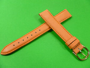 14-mm-Orange-Bracelet-de-Montre-Cuir-de-Veau-Bracelet-de-Montre-Cuir-1421
