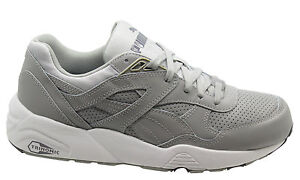 a90d8b79d1e Image is loading Puma-Trinomic-R698-Core-Leather-Men-Trainers-Running-