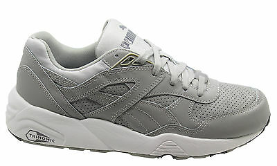 Puma Trinomic R698 Core Leather Men Trainers Running Shoes Grey 360601 03  X45B   eBay