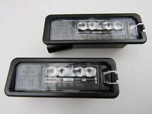 2x-Genuine-LED-License-Plate-Lights-2pcs-VW-Golf-Scirocco-Passat-1K8943021D-NEW