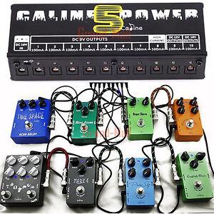 Caline-Guitar-Effect-Pedal-Power-Supply-10-Isolated-Output-Cables-9V-12V-18V-US