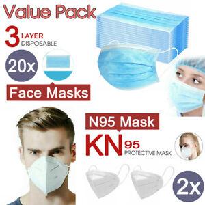 20x-Level-3-PLY-Disposable-Face-Masks-2x-N95-KN95-Masks-Respirator-Anti-Flu
