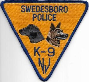 K-9 DHF New Jersey  SWEDESBORO  Hundeführer Polizei Abzeichen Police Patch USA