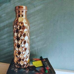 2 Diamond Glass And Free Radicals USA 700ml Diamond Design Copper Water Bottle