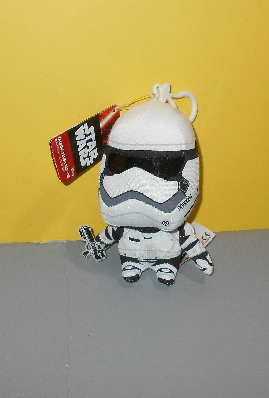 "STAR WARS STORMTROOPER 4/"" TALKING PLUSH WITH CLIP THE FORCE AWAKENS  BRAND NEW"