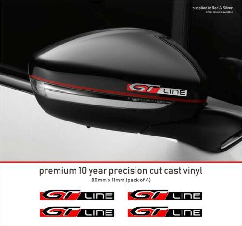 PEUGEOT GT LINE SPORT 10 yearcast Vinyl Decals Autocollants x 4-beaucoup de couleurs