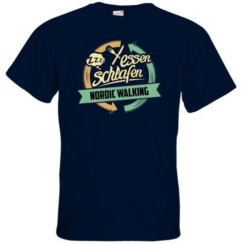 Getshirts-rahmenlos ® cadeaux-t-shirt-sport nordic walking
