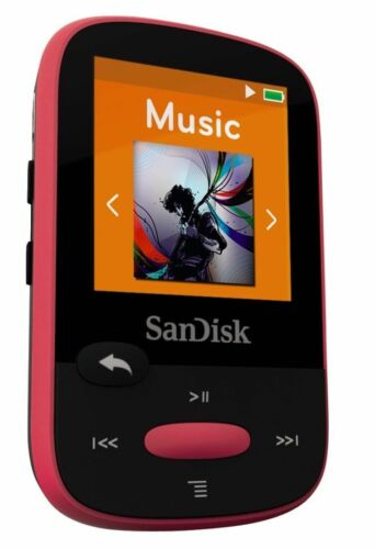 Pink With LCD Screen and MicroSDHC Card Slot SanDisk Clip Sport 8GB MP3 Player