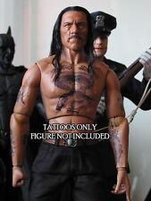 1/6 Scale Tattoos: Danny Trejo or Machete Inspired Pack - Waterslide Decals