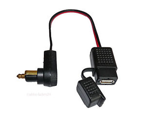 USB-Ladekupplung-Ladegeraet-fuer-Motorrad-12V-Bordnetz-mit-Normstecker-gewinkelt