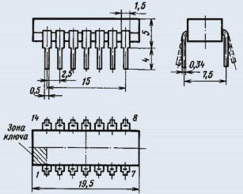 K155tl2 = sn7414n Microchip Urss Lote De 30 Piezas 7414pc Ic