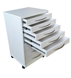 Image Is Loading 2 Mobile Portable Dental Doctors Cabinets Carts White