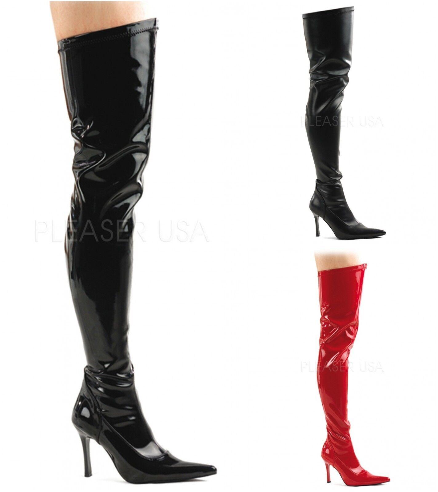 Pleaser Funtasma lujuria - 3000 botas Stretch Vestido Elegante botas 3000 de alto del muslo 7d6f34
