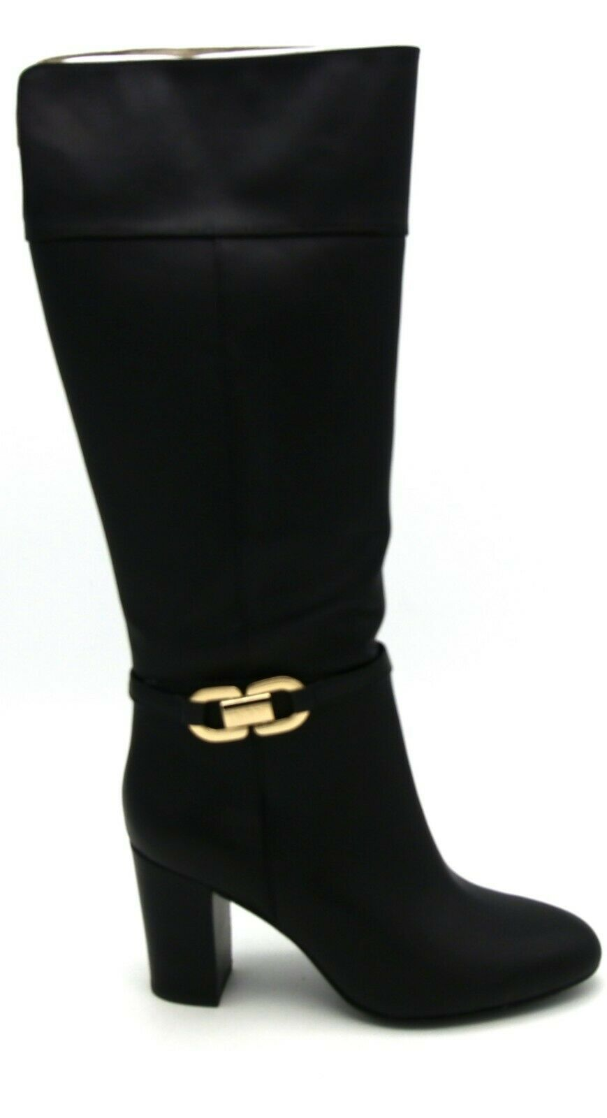 J7948 New New New Women's Joy & Iman Black Leather Knee High Boot 9 W 62831c