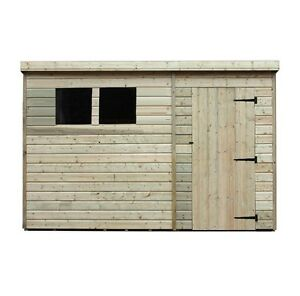Garden Shed Shiplap Pent Tanalised Windows Pressure Treated