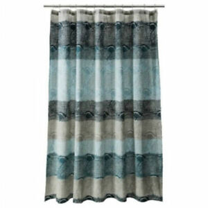 Threshold Cool Blue Scallop Shower Curtain Blue Gray Ebay