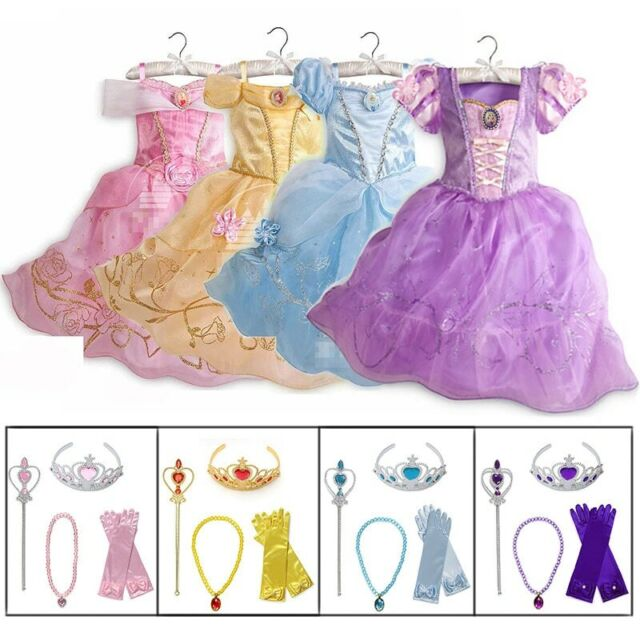 ReliBeauty Girls Princess Tangled Rapunzel Lace up Dress Costume 2T-3T