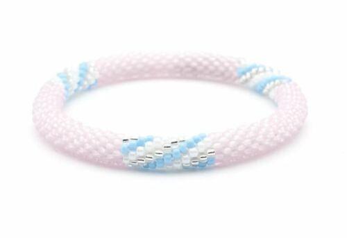 Sashka-Co-Reg-6-8-034-LIMITLESS-Glass-Beaded-BRACELET-matte-pink-baby-blue-white
