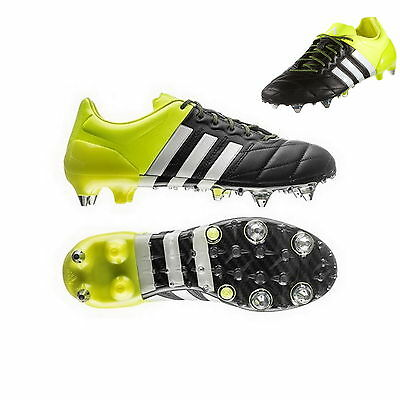 adidas ACE 15.1 SG Leather B32813 core blackwhitesolar yellow | eBay