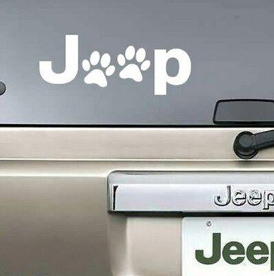 Jeep Paw Sticker Vinyl Decal Car Window Truck Bumper Laptop Cat Dog Paws