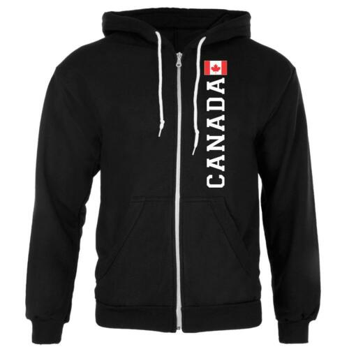 Canada Flag World Cup Mens Full Zip Hoodie