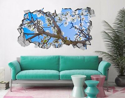 3D Beach Tree 9485 Wall Murals Stickers Decal breakthrough AJ WALLPAPER AU Lemon