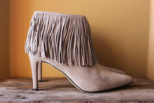 cbb52985e3f Sam Edelman Kandice Gray Suede Fringe Pointy Ankle BOOTS 9.5m ...