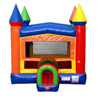 Surprising New Rainbow Castle Modular Bounce House Commercial Moonwalk With Tunnel Entrance Ebay Download Free Architecture Designs Salvmadebymaigaardcom