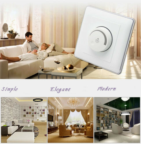 AC220V-240V Triac Dimmer LED Strip Light Lamp Brightness Controller Panel Switch