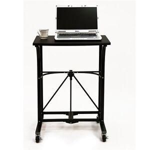 Image Is Loading Portable Laptop Rolling Folding Table  Workstation Desk Work