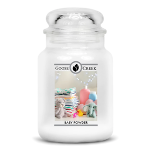 ☆☆BABY POWDER☆☆LARGE GOOSE CREEK CANDLE JAR 24 OZ.☆☆FREE SHIPPING
