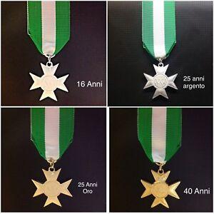 Medaglia-Croce-di-Anzianita-di-Servizio-16-25-40-anni-per-Esercito-Carabinieri