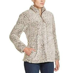 NWT-Women-039-s-WEATHERPROOF-Brown-Frosty-Tipped-Sherpa-Lined-Pullover-Sweater-M