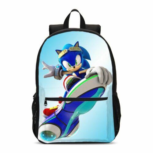 Sonic the Hedgehog Boys Backpack Set Child School Bag Shoulder Bag Pen Case Lot