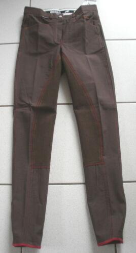 Braun Horka Reithose Gr.170 farblich abgesetzte Nähte 3//4 Vollbesatz