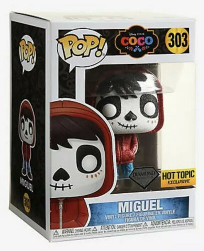 Funko Pop Disney Coco Miguel Diamond Collection #303 Hot Topic Exclusive