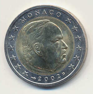 2 Euro Kursmünze Monaco 2002 Fürst Rainier Iii Original Bankfrisch