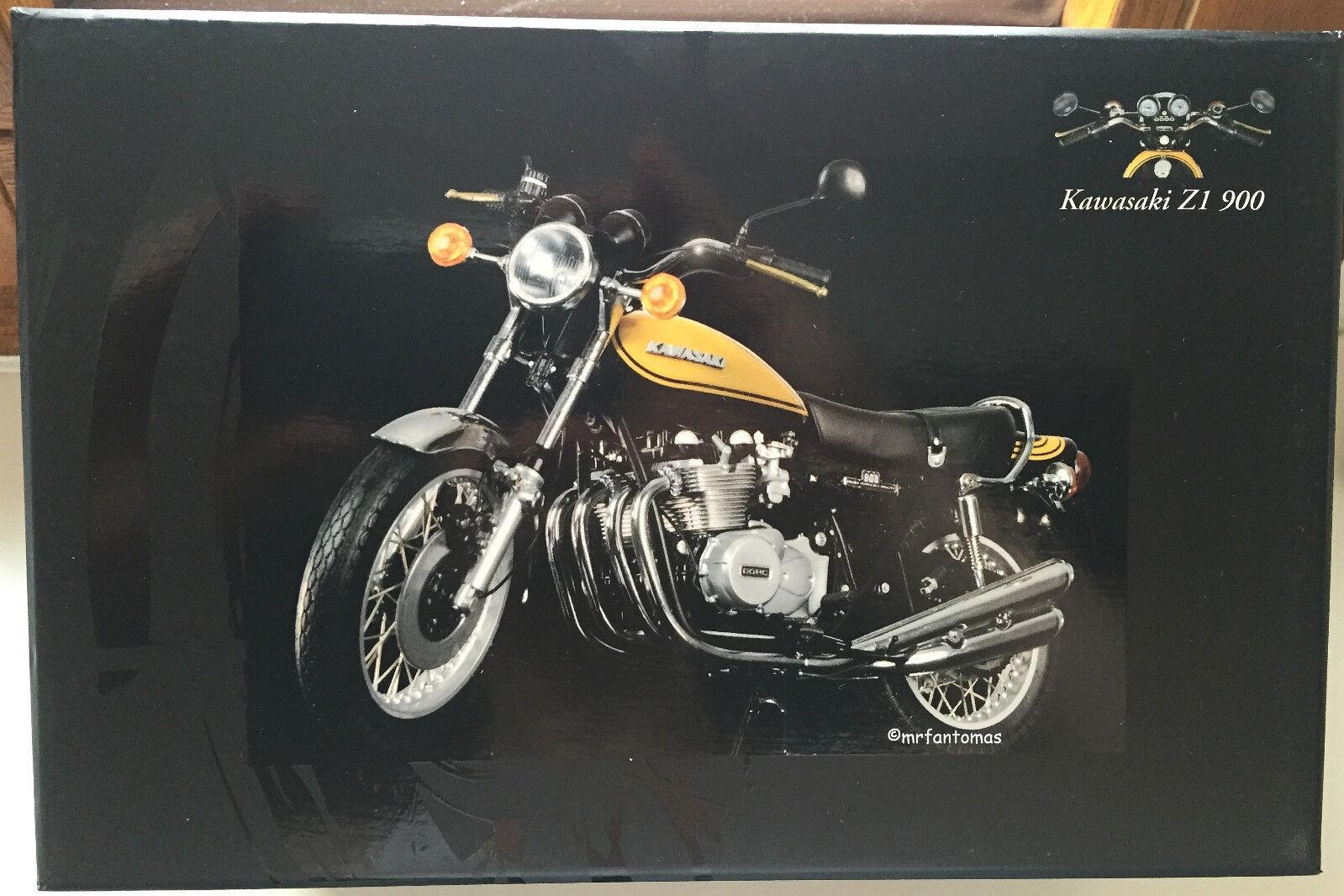 >>> Minichamps KAWASAKI 900 z1 verde/giallo scala 1:12 - RAR