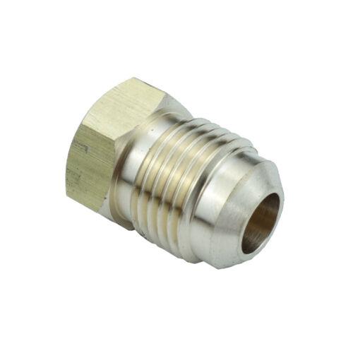 "Brass Flare Pipe Fitting Plug 1//2/"" Tube OD SAE 45 Deg Flare"