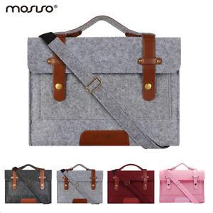 Mosiso Women Men Laptop Felt Messenger Bag Case for Macbook Air Pro 13 13.3 15.6