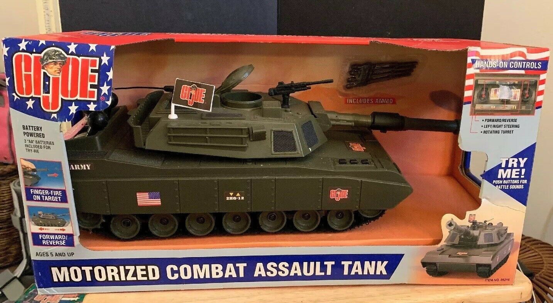 2001 Hasbro GI JOE Motorized Combat Assault Tank Item   05216- NEW