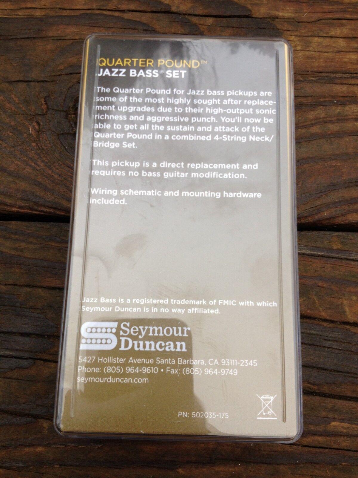 Seymour Duncan Quarter Pound Jazz Bass Pickup Set Ebay Wiring Schematic