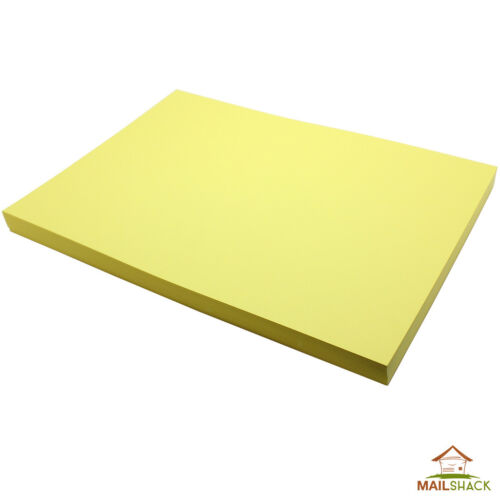 50 Sheets A4 CANARY YELLOW Coloured Card 230gsm Colour Craft Copier Printer